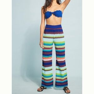 Anthropologie Zig Zag Beach Pants size Small NWOT
